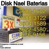 Entregas de baterias com menores valores na Anália Franco